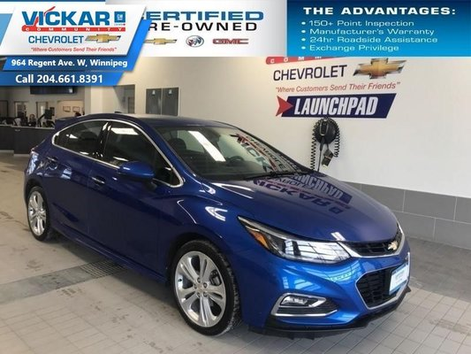 2018 Chevrolet Cruze Premier   HATCHBACK, LEATHER INTERIOR, HEATED STEERING WHEEL, BLUETOOTH  - $139.90 B/W