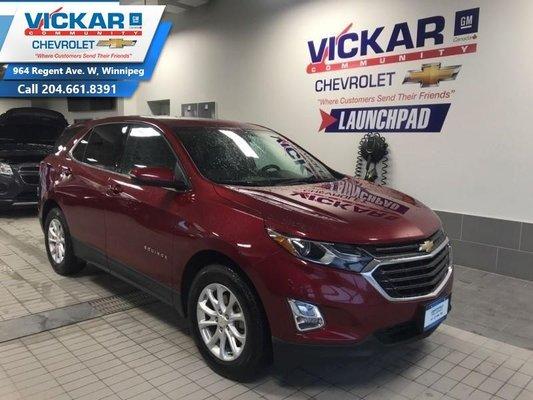 2018 Chevrolet Equinox LT  FWD, REMOTE START, BACK UP CAMERA, BLUETOOTH  - $177.68 B/W
