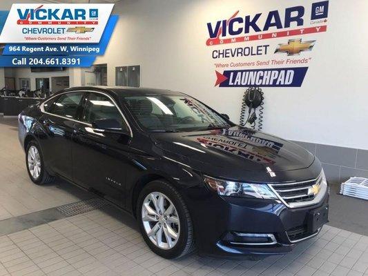 2018 Chevrolet Impala LT LEATHER SEATS, SUNROOF, REAR VIEW CAMERA  - $181 B/W