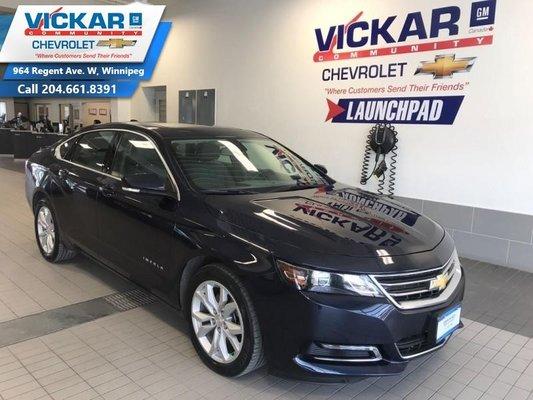 2018 Chevrolet Impala LT  SUNROOF, REAR VIEW CAMERA, HEATED SEATS  - $172 B/W