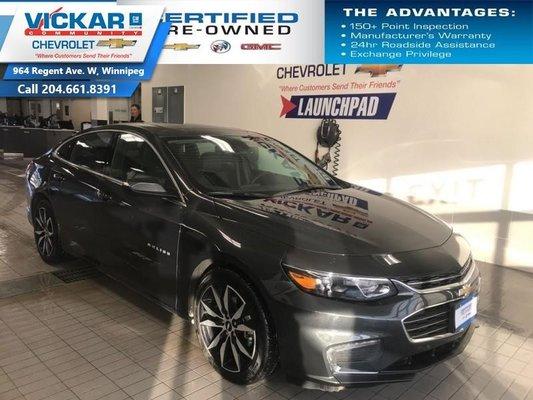 2018 Chevrolet Malibu LT  LEATHER HEATED SEATS, NAVIGATION, SUNROOF, BOSE  - $157.34 B/W