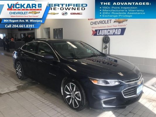 2018 Chevrolet Malibu LT  NAVIGATION, BOSE AUDIO, SUNROOF  - $158.01 B/W