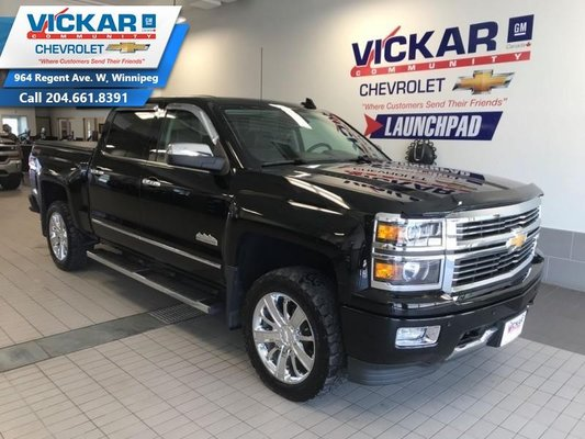 2015 Chevrolet Silverado 1500 High Country  LEATHER COOLED SEATS, REMOTE STARTER, 4X4   - $287 B/W