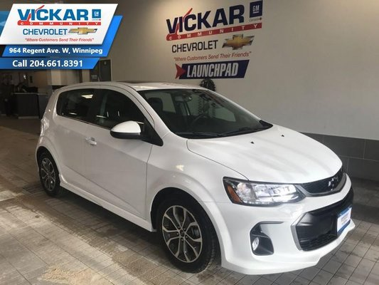 2018 Chevrolet Sonic R/S PACKAGE, SUNROOF, BLUETOOTH  - $113.35 B/W