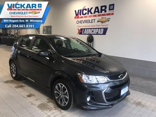 2018 Chevrolet Sonic LT  BLUETOOTH, REMOTE STARTER, SUNROOF  - $116.64 B/W