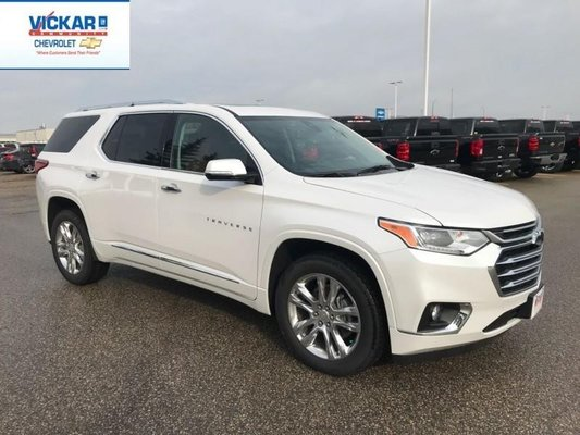 New 2019 Chevrolet Traverse High Country - $386 36 B/W Pearl