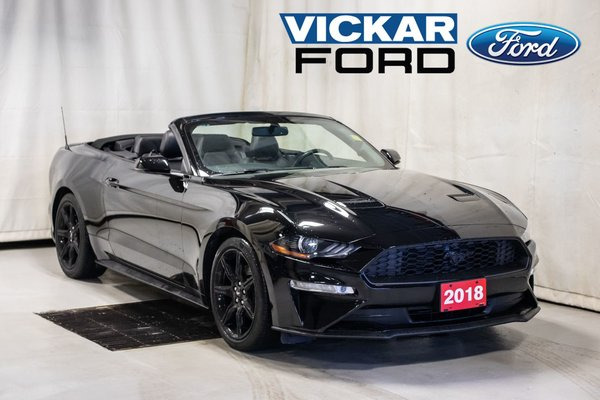 2018 Ford Mustang Convertible Ecoboost Premium w. Leather