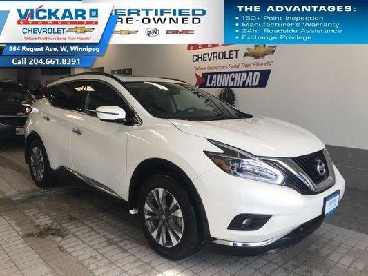 2018 Nissan Murano AWD, NAVIGATION, SUNROOF  - $214.66 B/W