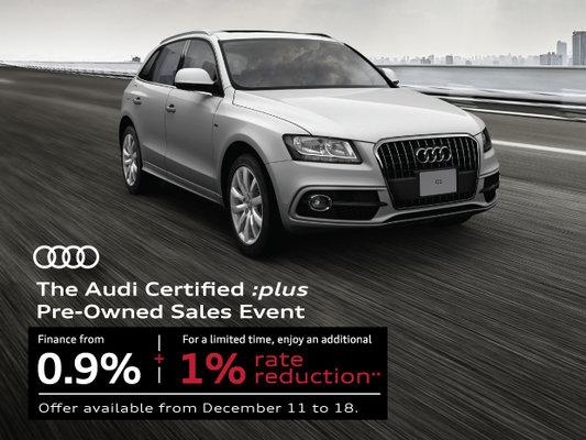 Audi CPO PreOwned Sales Event At Audi Of Mississauga Audi Of - Audi q5 cpo
