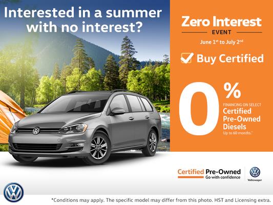 Zero Interest Event!