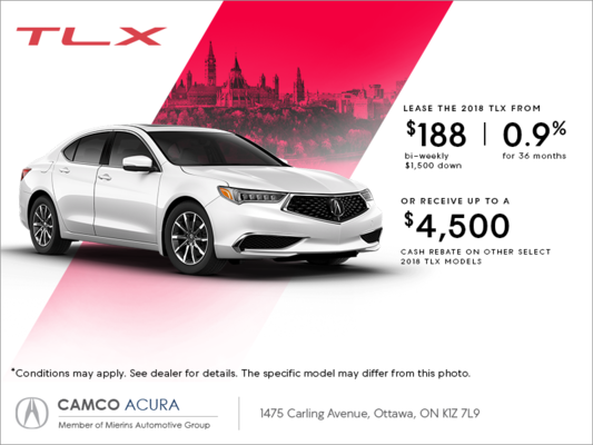 2018 acura tlx mierins automotive group promotion in ottawa