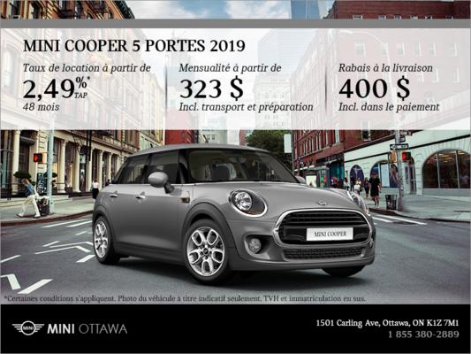 La Mini Cooper 5 Portes 2019 Promotion Mierins Automotive Group à