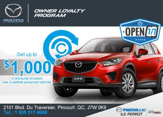 The Owner Loyalty Program Mazda Promotion In Pincourt Ile - Mazda loyalty program