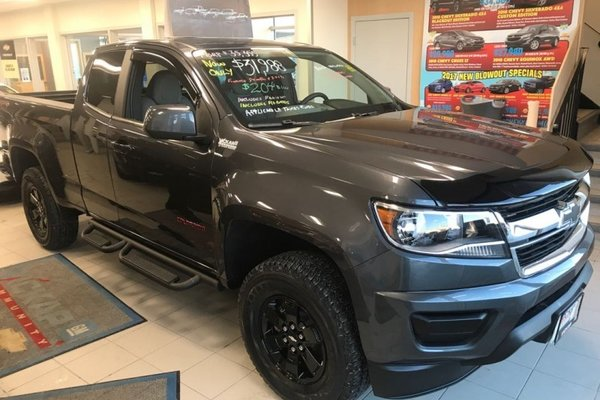 new 2017 chevrolet colorado wt - towing package - $218.12 b/w cyber