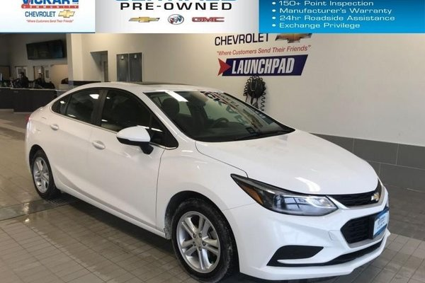 2018 Chevrolet Cruze LT BOSE AUDIO, SUNROOF, HEATED SEATS  - $125.17 B/W