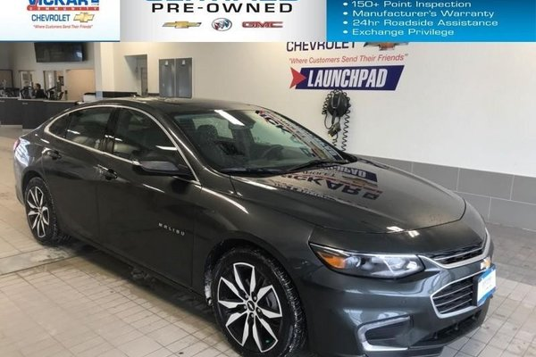 2018 Chevrolet Malibu LT  NAVIGATION, BOSE AUDIO, SUNROOF  - $164.21 B/W