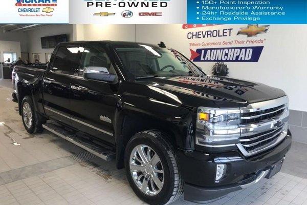2017 Chevrolet Silverado 1500 High Country 6.2L V8, CREW CAB, SHORT BOX, BOSE AUDIO, SUNROOF