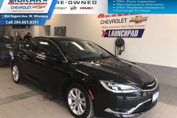 2016 Chrysler 200 FUEL EFFICIENT,2.4l 4 cyl. AUTOMATIC, BLUETOOTH   - $136.67 B/W