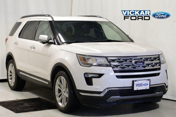 2018 Ford Explorer Limited 4WD 7 Psgr  Dual Panel Moon & Navigation