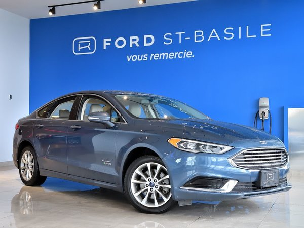 Used 2018 Ford Fusion Energi SE+NEUF DEMO+SYNC 3+CUIR+++ Blue for