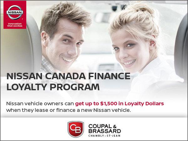 Nissan Canada Finance Loyalty Program