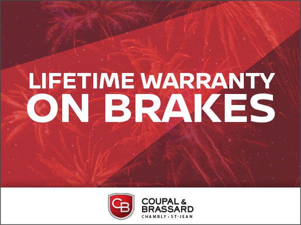 Lifetime Warranty on Brakes