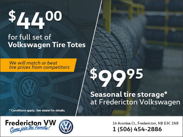 Save at Fredericton Volkswagen This Tire-Change Season