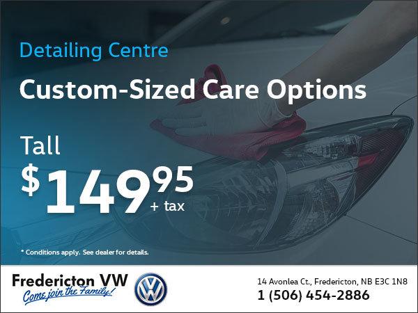 Custom-Sized Care Options: Tall