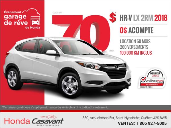 Procurez-vous le Honda HR-V 2018!