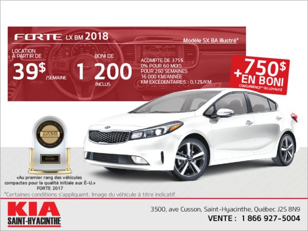 La Kia Forte 2018