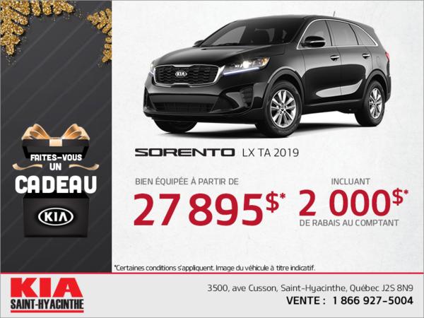 Obtenez la Kia Sorento 2019!