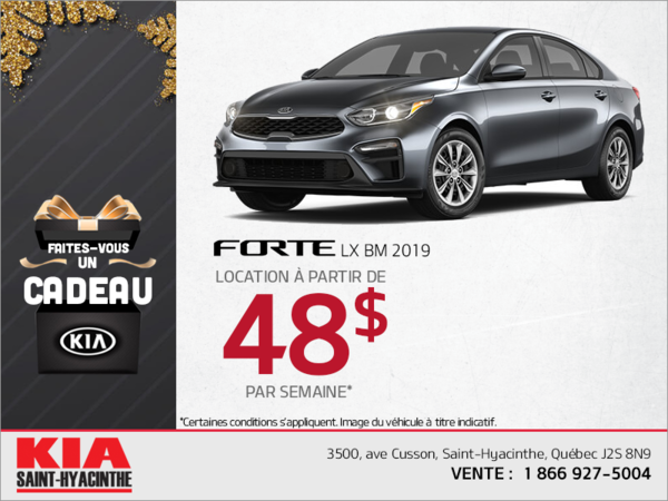 Procurez-vous la Kia Forte 2019!