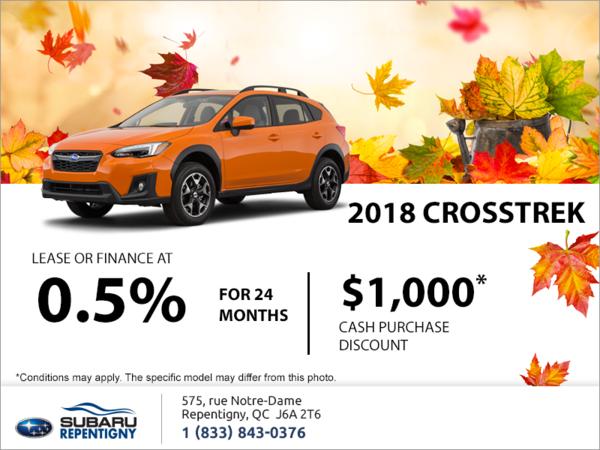 Get the 2018 Crosstrek today!