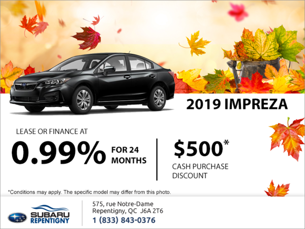 Get the 2019 Impreza 4-door today!
