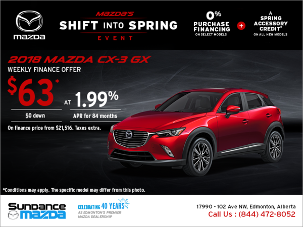 Get the new 2018 Mazda CX-3 today!