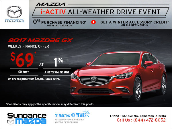 Sundance Mazda Sales >> Save On The 2017 Mazda6 Today Sundance Mazda In Edmonton