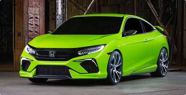 The first 2016 Honda Civic is produced in Alliston