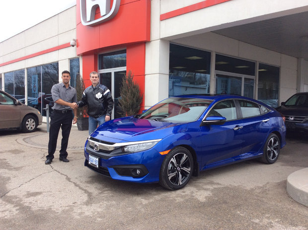 First 2016 Civic Touring in 'Aegean Blue