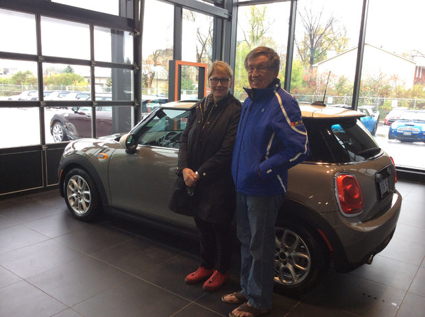 Oldster in a Mini *Sales Department*
