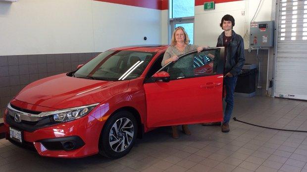 My new red Honda