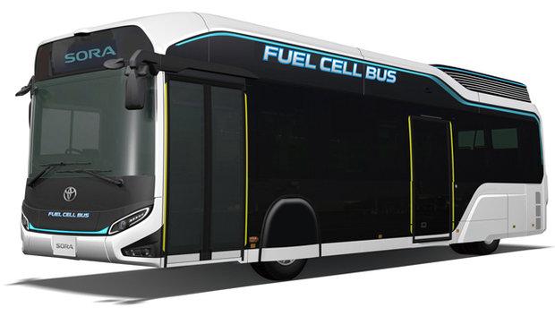 Toyota Unveils FC Bus Concept 'Sora'