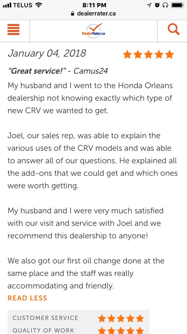 GREAT SERVICE!