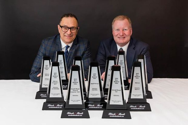 Toyota Value Dominates Canadian Auto Industry Again, Receiving the Most Canadian Black Book Best Retained Value Awards and ALG Residual Value Awards