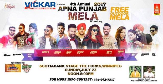 Annual APNA Punjab Mela in Winnipeg, Manitoba