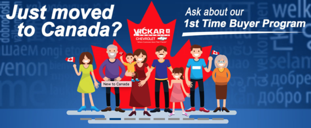 VICKAR COMMUNITY CHEVROLET WELCOMING NEW CANADIANS WITH SPECIAL INCENTIVE PROGRAM