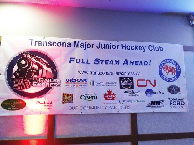 Proud to be partnered with the Transcona Railer Express hockey team