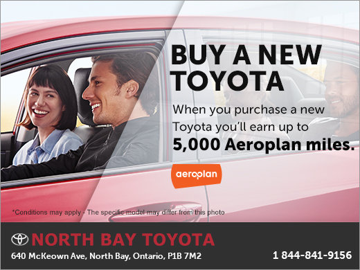 Buy a New Toyota and Earn Aeroplan Miles!