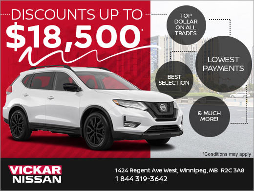 Discounts up to $18,500!