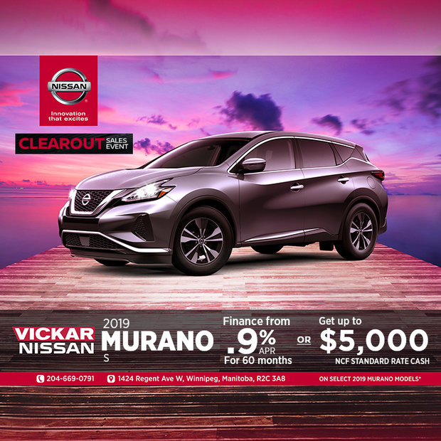 Get the 2019 Nissan Murano Today!