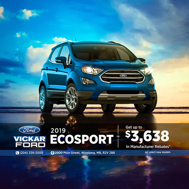 2019 Ford EcoSport $3,638 in Savings!